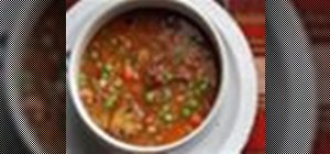 Use a slow cooker to make a hearty beef and barley soup