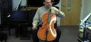 Play vibrato on the cello