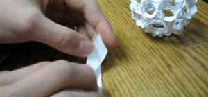 Make a buckyball from folded paper with origami