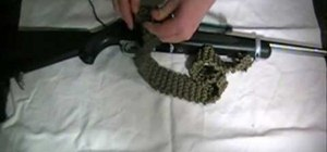 Make a knitted paracord rifle sling