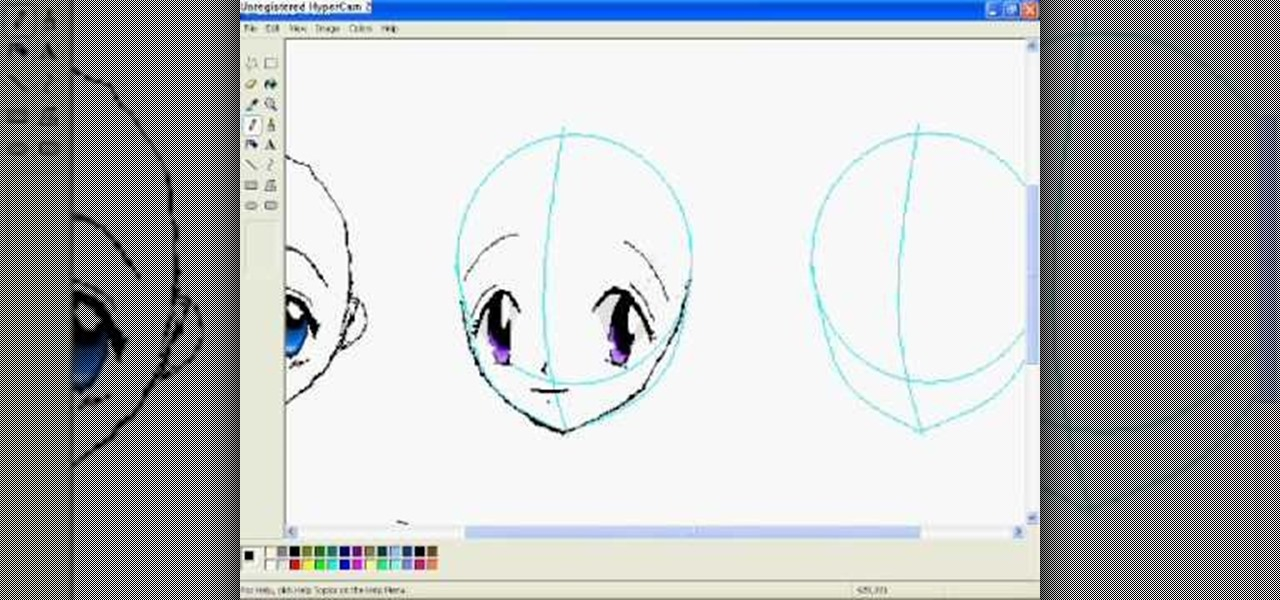 Drawing Lines In Dreamweaver : How to draw anime eyes in ms paint « software tips