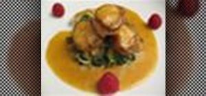 Make seared scallops in a a fennel and orange reduction sauce