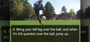 Do the crossover freestyle soccer trick