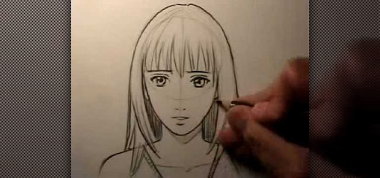 How to Draw a realistic female manga face  Drawing