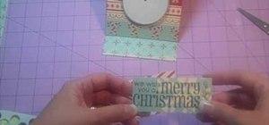Craft an easy glittery snowman Christmas card with the Cricut