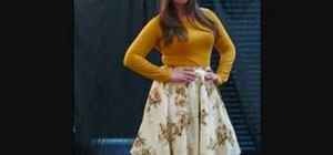 Sew your own retro chic circle skirt
