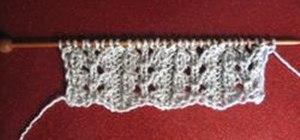 Knit a Lacey Eyelet Rib Pattern