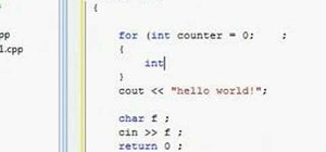 Use the for loop in C++