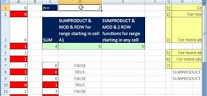 Format every nth value in Excel with MOD & ROW