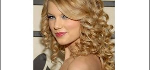 Create a princess inspired curly Taylor Swift hairstyle