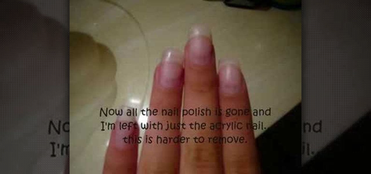 How to Remove acrylic nails on your own « Nails & Manicure ...