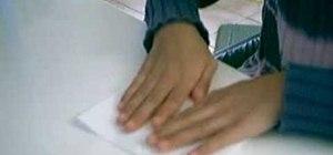 Make a paper box using rectangular paper