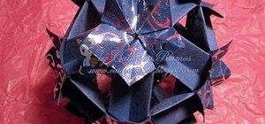 Origami a rare spring kusudama