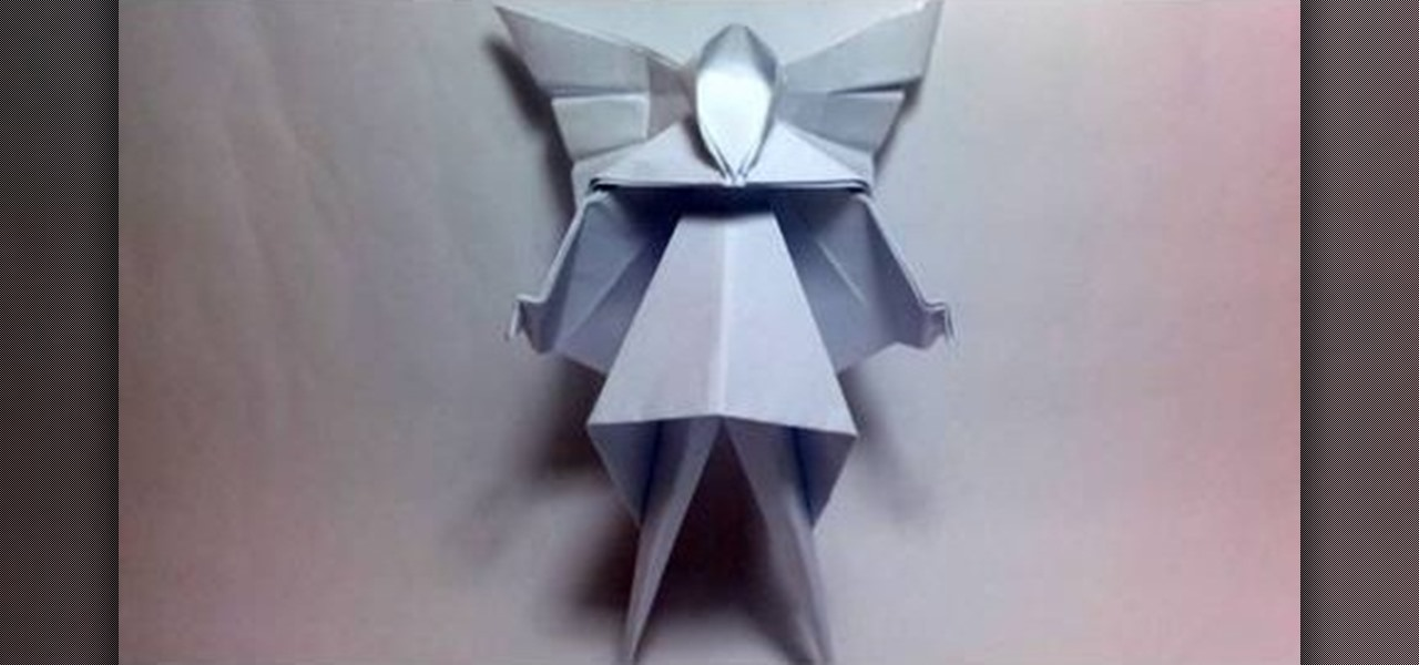 How To Fold A Christmas Tree Fairy Or Angel With Origami Origami  - Make A Christmas Star Tree Topper