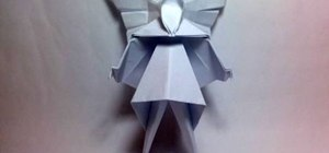 Fold a Christmas tree fairy or angel with origami