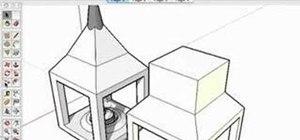 Model a lantern in SketchUp 6