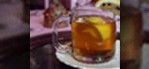 Make a spiced hot toddy with lemon juice to cure winter colds