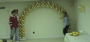 Make a decorative balloon arch for parties and events