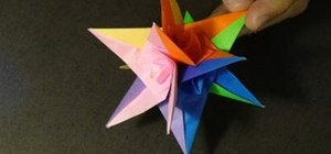 Make a six-piece 3D spiral star with origami