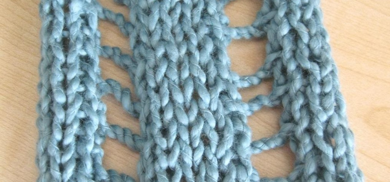 How To Knit The Ladder Stitch Knitting Crochet Wonderhowto