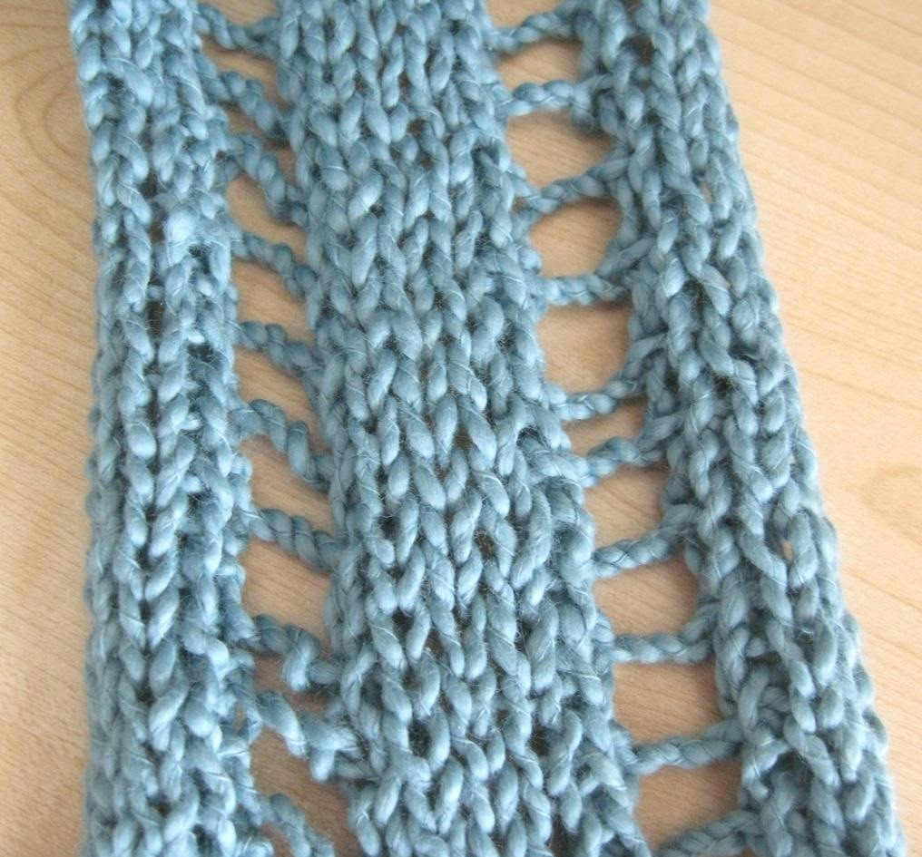 How to Knit the Ladder Stitch