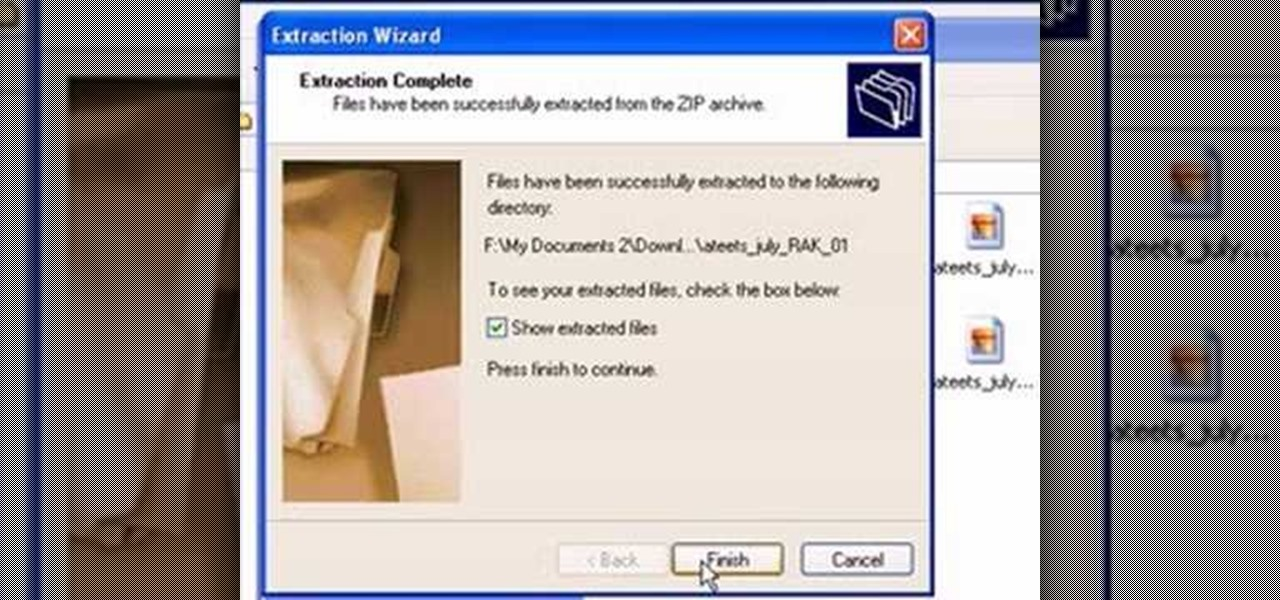 How to Unzip a file with Microsoft Windows XP « Operating Systems