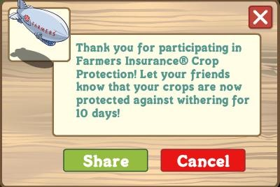 FarmVille Farmers Insurance Promotion