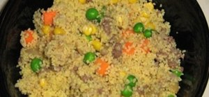 Prepare and eat saffron cous cous salad for a week