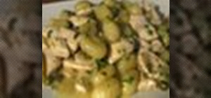 Make gnocchi pasta with chicken and capers