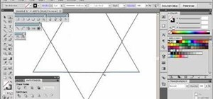 Make a six pointed star using the tools in Adobe Illustrator 5