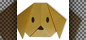 Origami a dog face Japanese style