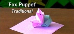 Fold an origami fox puppet