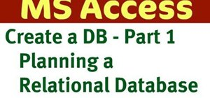 Create a database in Microsoft Access