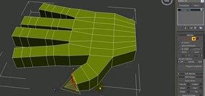 Model a hand using 3D Studio Max