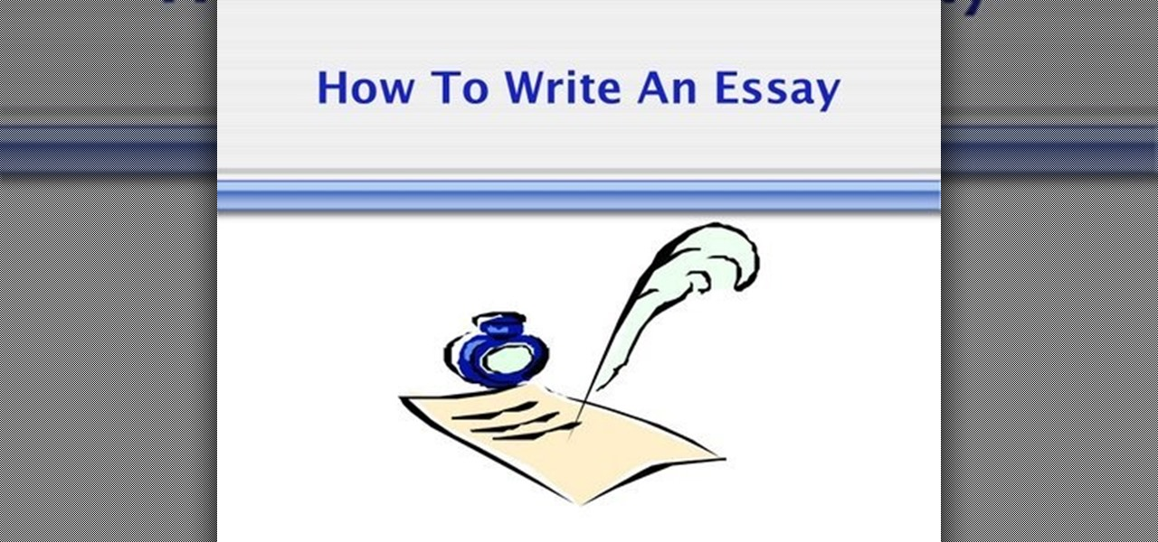 How To Write A Structured Essay  Humanities  Wonderhowto  Thesis Examples In Essays also Essay Writing Scholarships For High School Students  Help With Book Reports