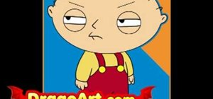 Draw Stewie Griffin from Family Guy