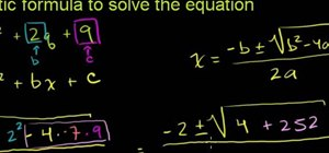 Solve a quadratic equation with the quadratic formula