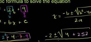 Solve a quadratic equation with the quadratic formula