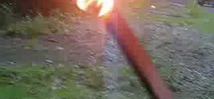 Turn duct tape into a fiery torch