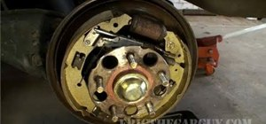 Replace drum brake shoes on a 2001 Honda Odyssey
