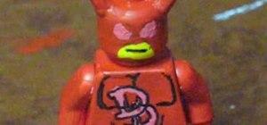 Make Marvel superhero Daredevil out of Legos