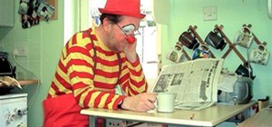 Even a clown needs a tea break