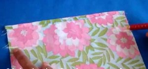 Sew a simple and easy drawstring bag