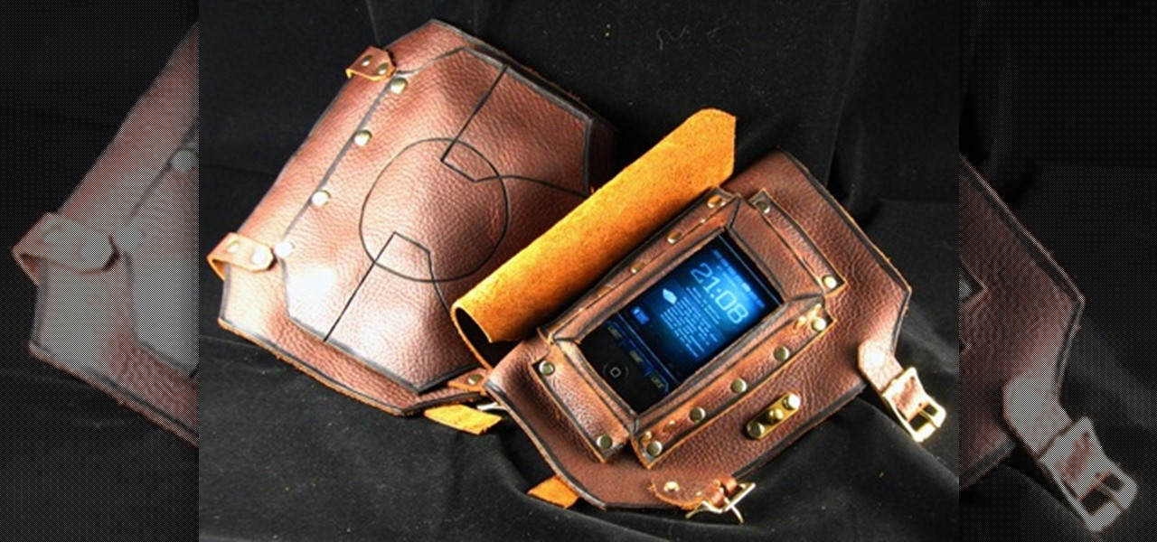 Hands-Free Steampunk Cell Phone Bracer