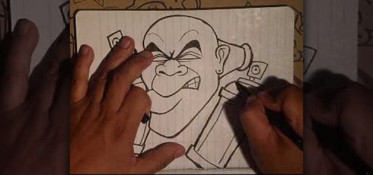 How to Draw a graffiti tag character with spraycans by wizard ...