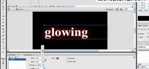 Create a glow text effect in Flash