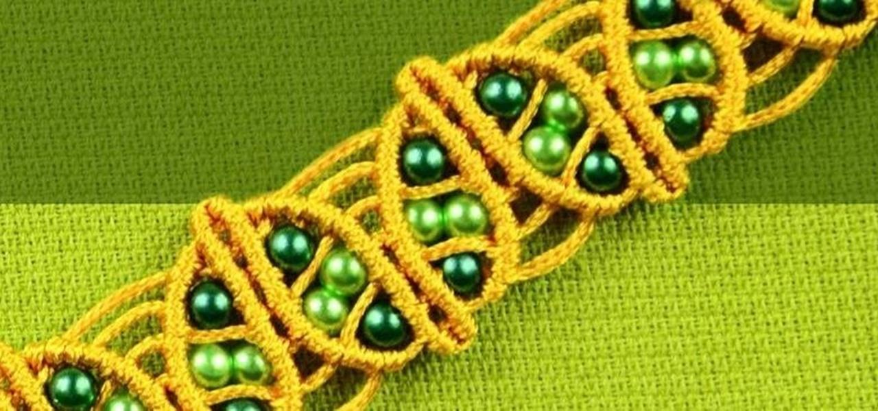 Macrame Spring Leaf Bracelet Tutorial