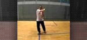 Hit a backhand backwall boast shot in squash