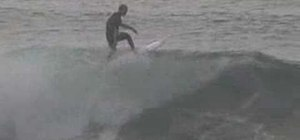 Pull a floater while surfing