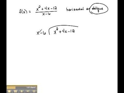 Find oblique asymptotes of rational functions